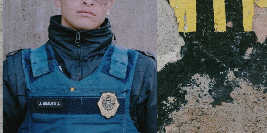 Photographies de fonctionnaires mexicains par notre artiste Thomas Cecchelani, sur le thème de la violence et du crime organisé au Mexique
