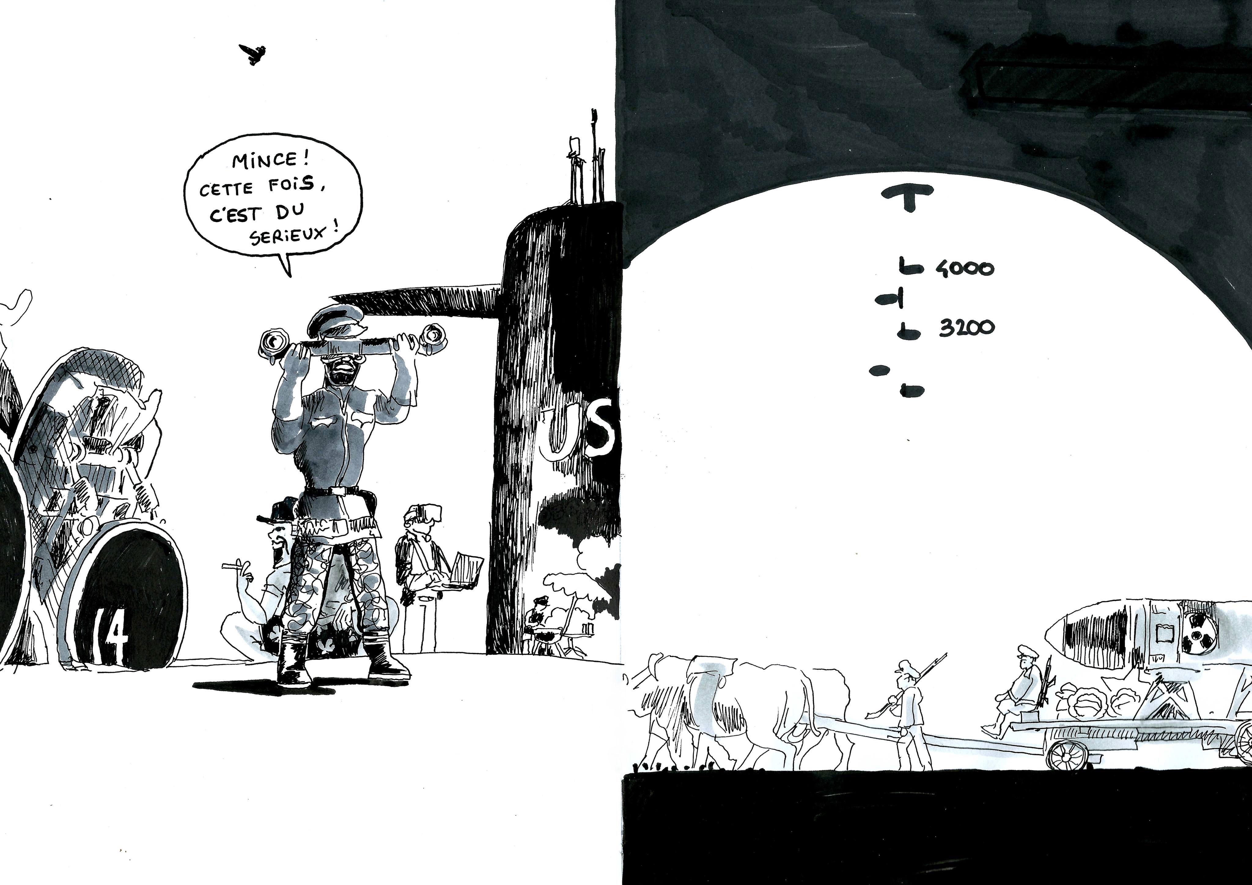 Illustration Zoom-dézoom, militaires américains et militaires nords-coréens