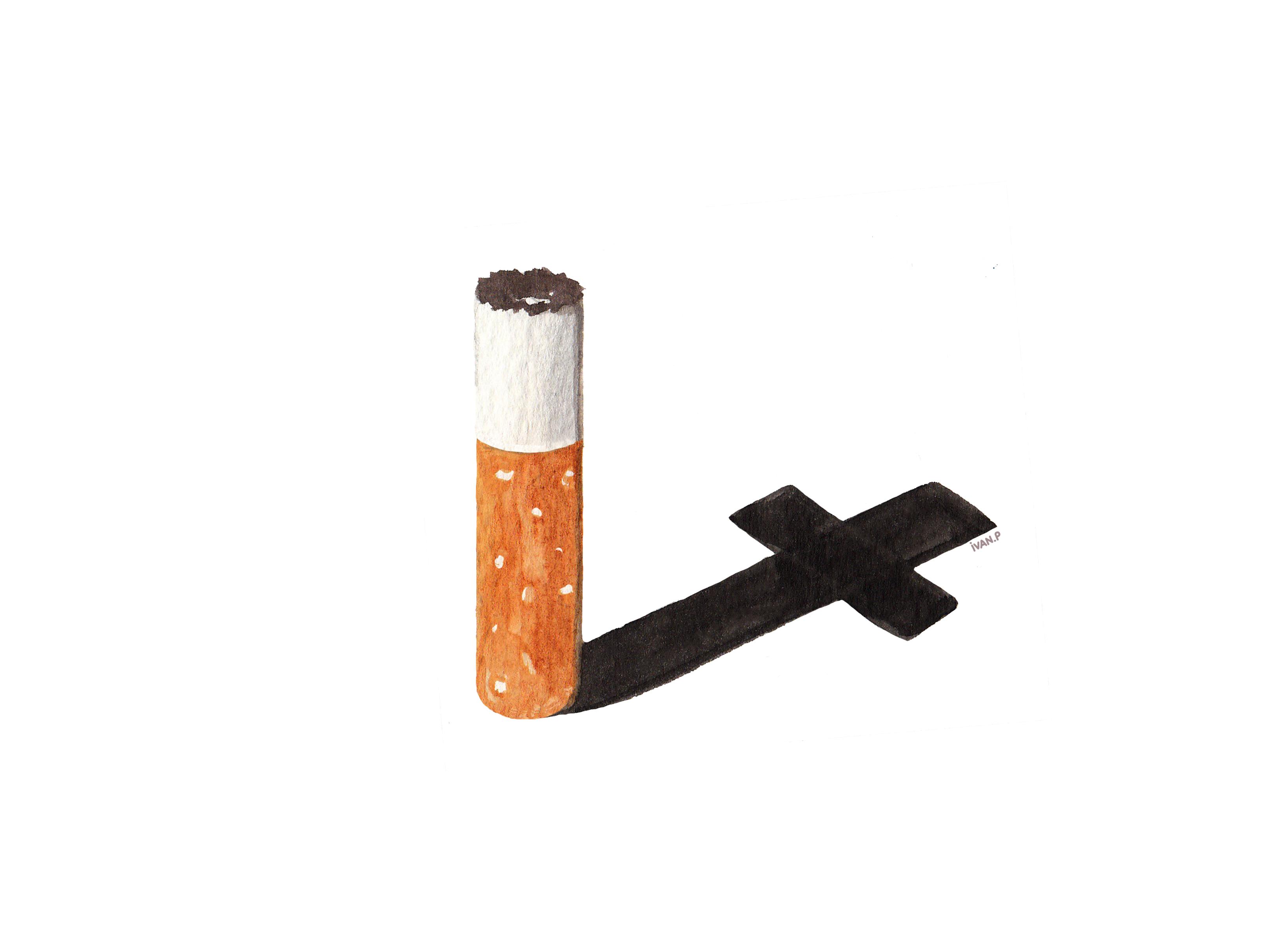 Illustration d'Ivan P sur l'industrie du tabac.