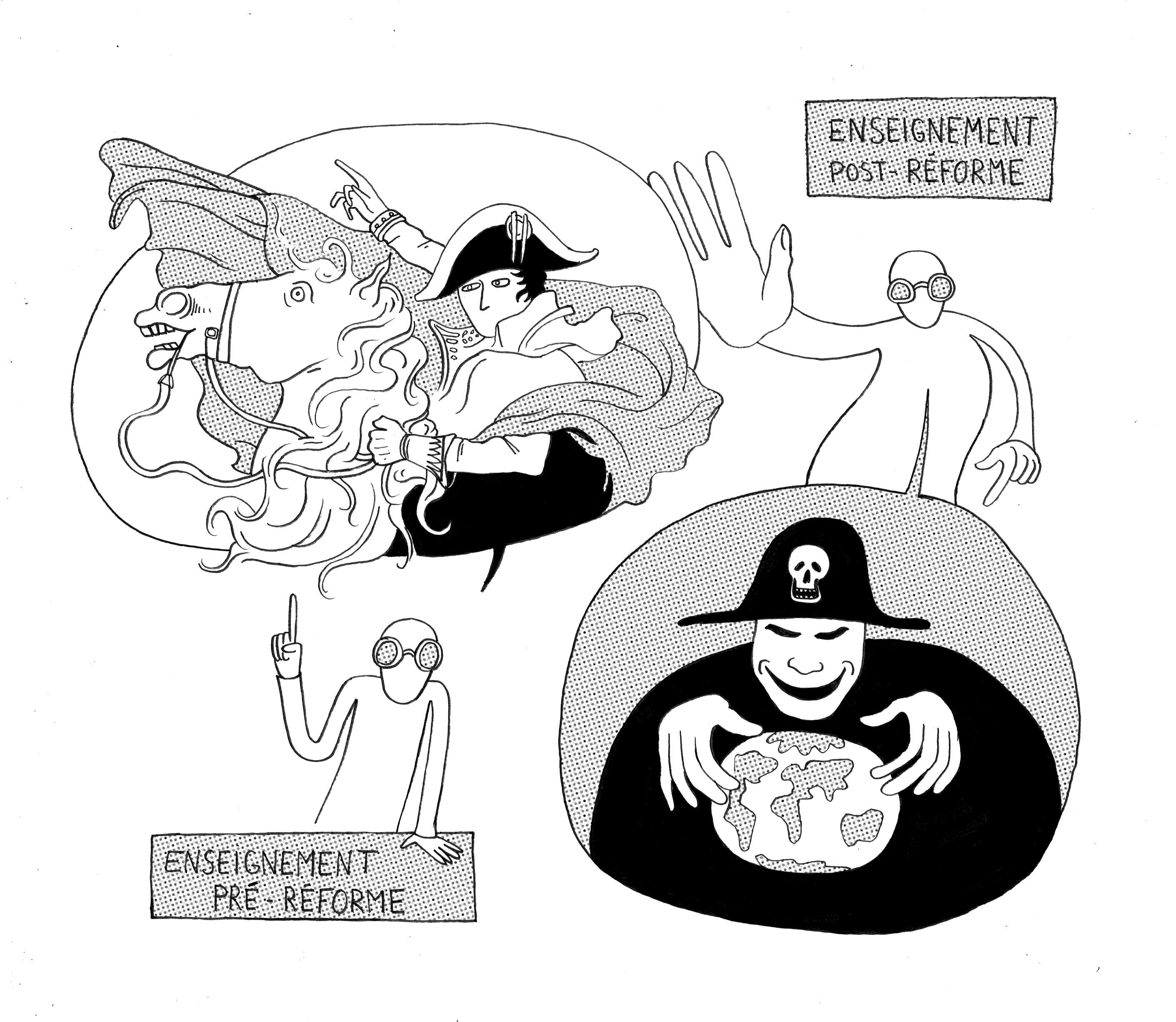Illustrations, le système scolaire français entre tradition et réforme
