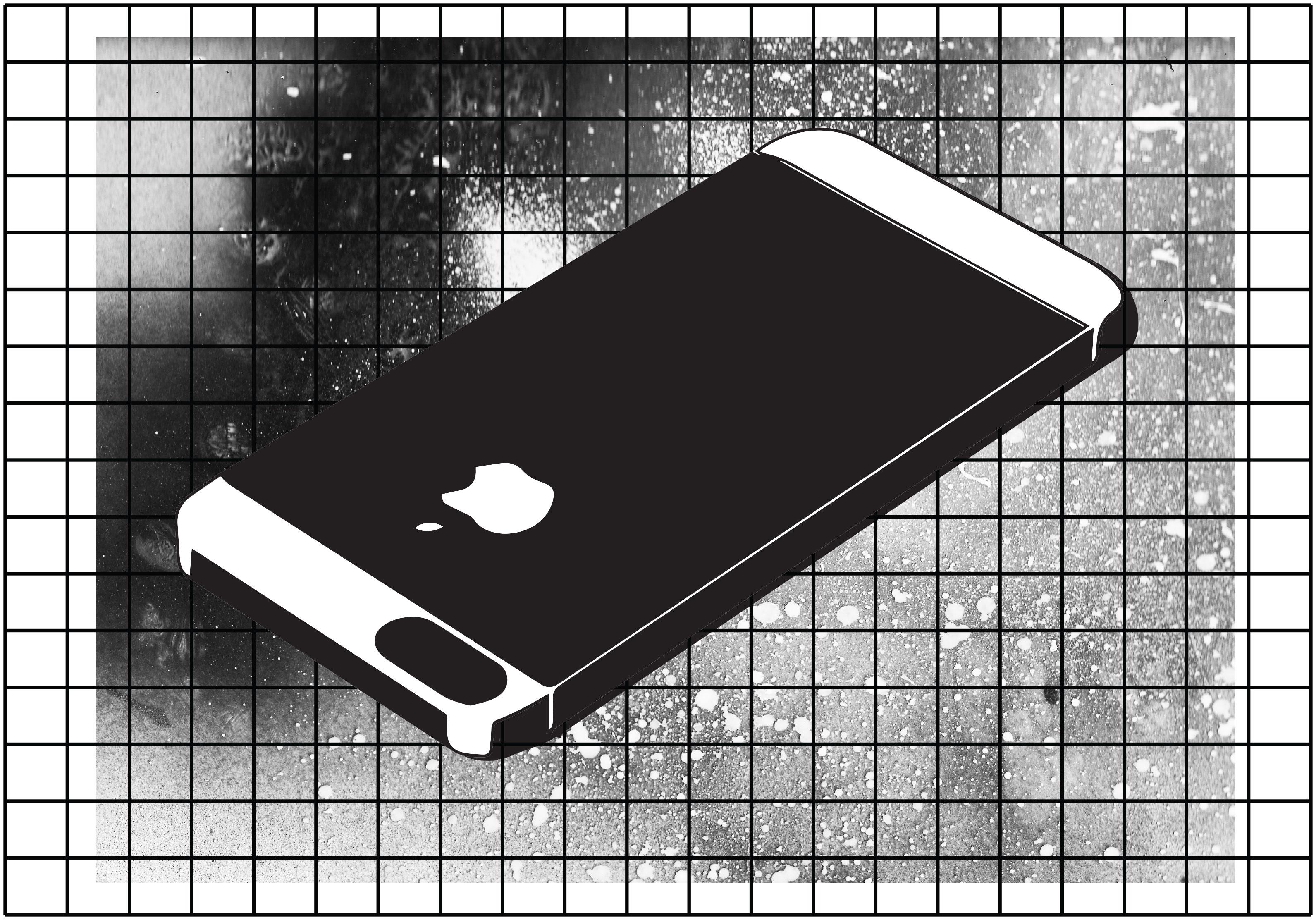 Illustration de Joseph Hadacek sur le tantale, les métaux rares présents dans les smartphones et le prix lourd de leur extraction