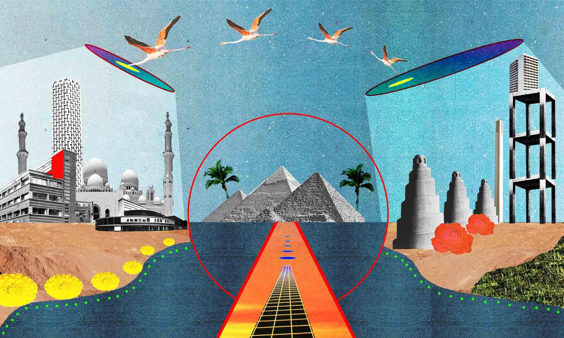 Illustration de l'artiste Charlotte Esquerré sur le nouvel orientalisme occidental
