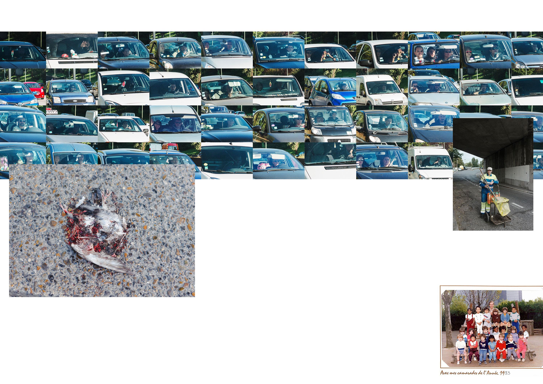 Photos de Thomas Cecchelani sur le thème de la marge, de son rapport à la ville et au centre. Parking.