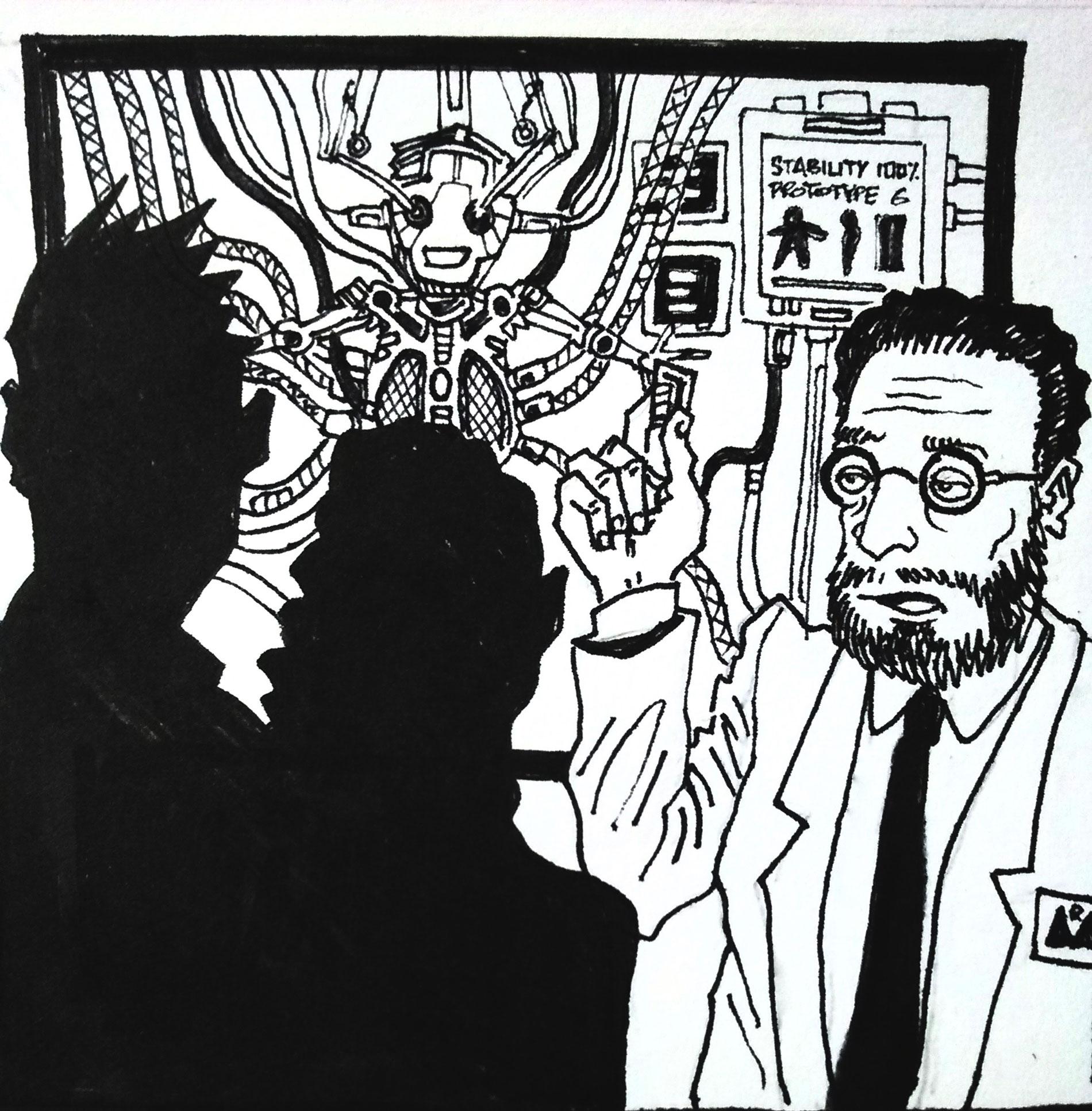 Illustrations de Su Zo. Le transhumanisme est-il une solution aux problèmes de l'espèce humaine ?