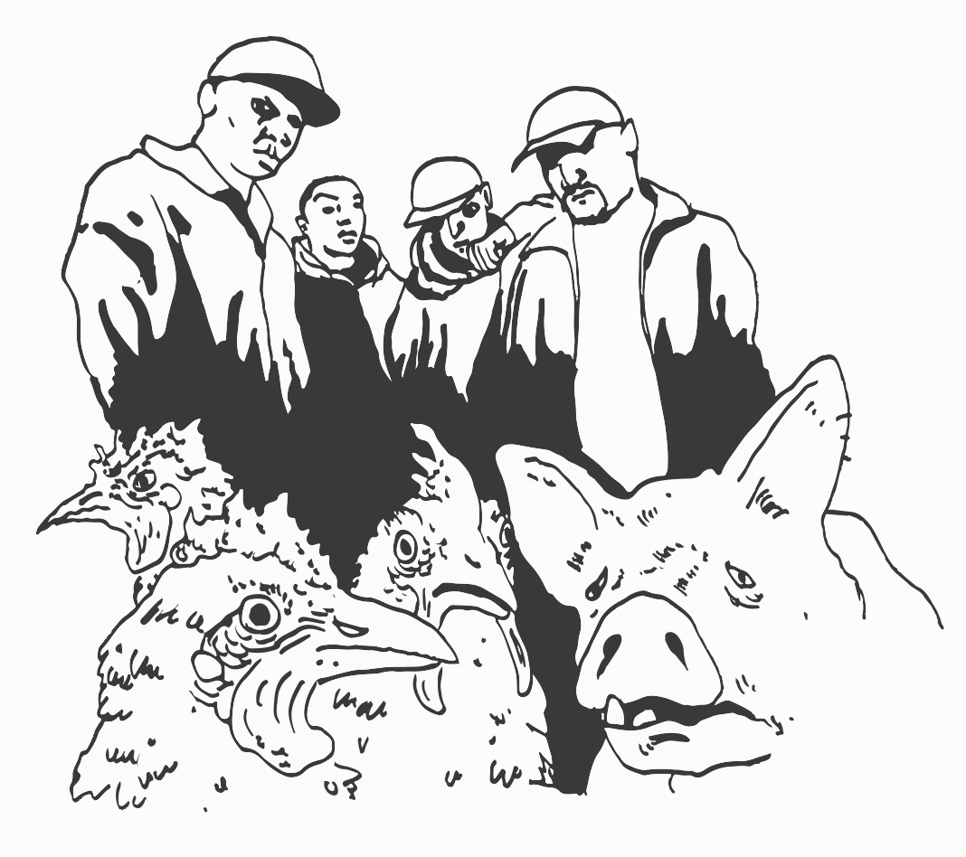 Illustrations de Xavier Frederick. Rap, musique engagée et révolution, en particulier dans les Printemps arabes.