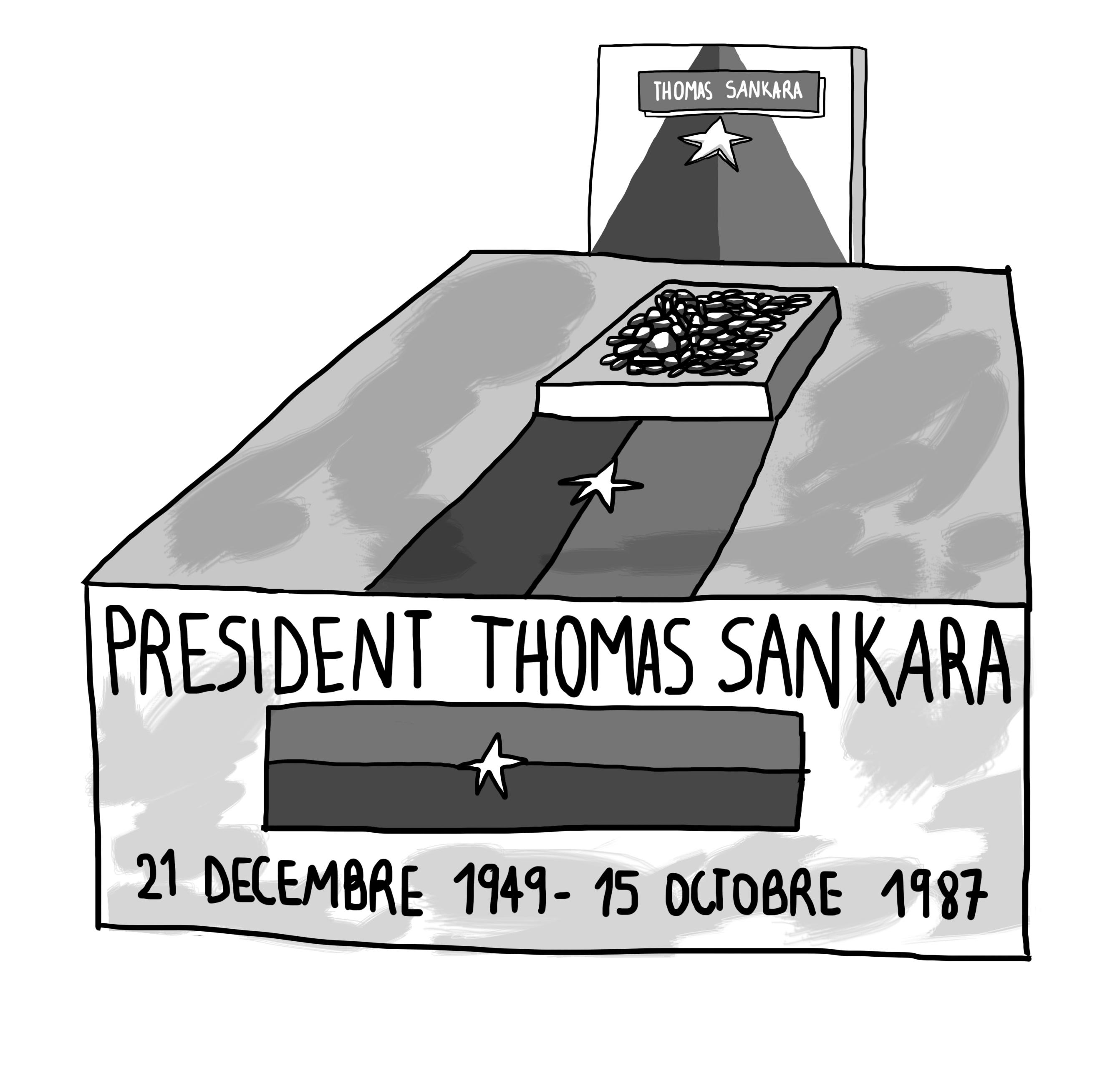 La tombe de Thomas Sankara