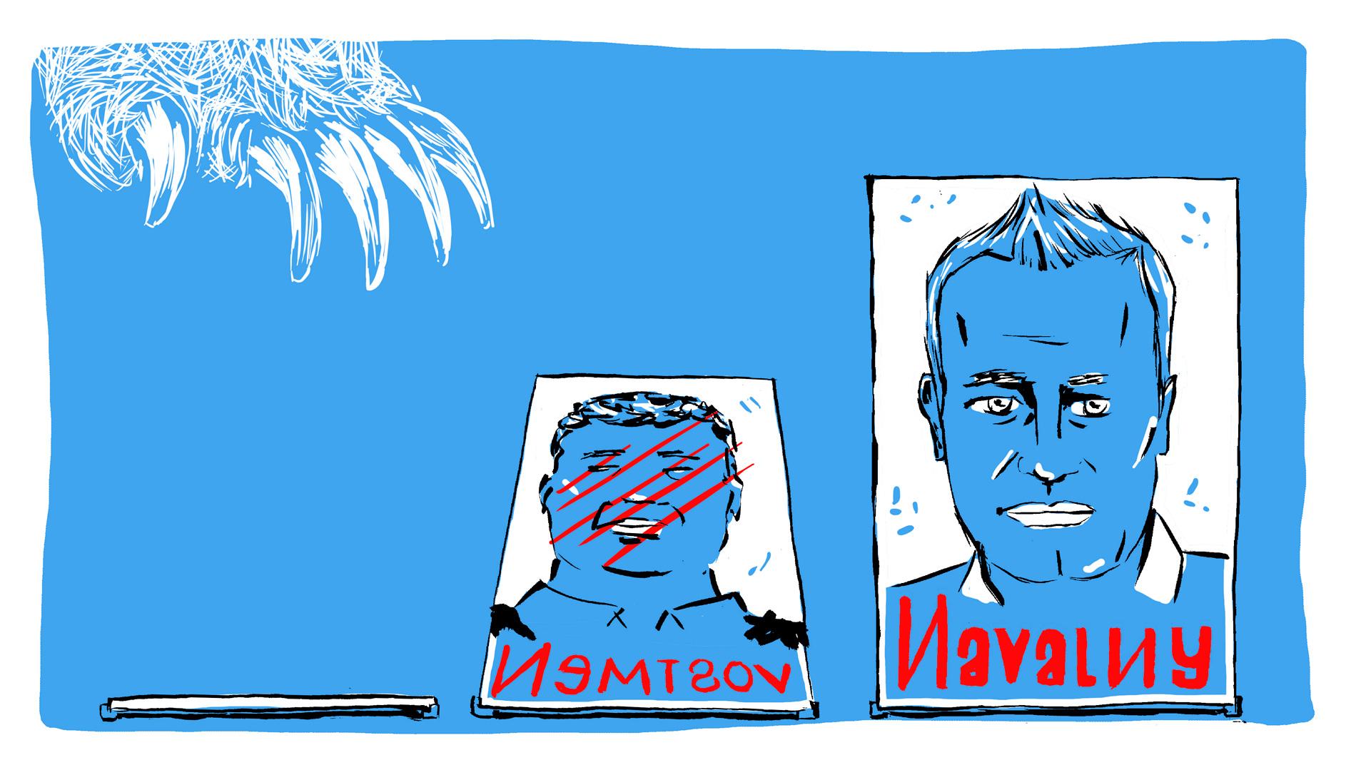 Élections en Russie : l'éternel fuite en avant de Vladimir Poutine. Illustrations de Tommy Dessine.