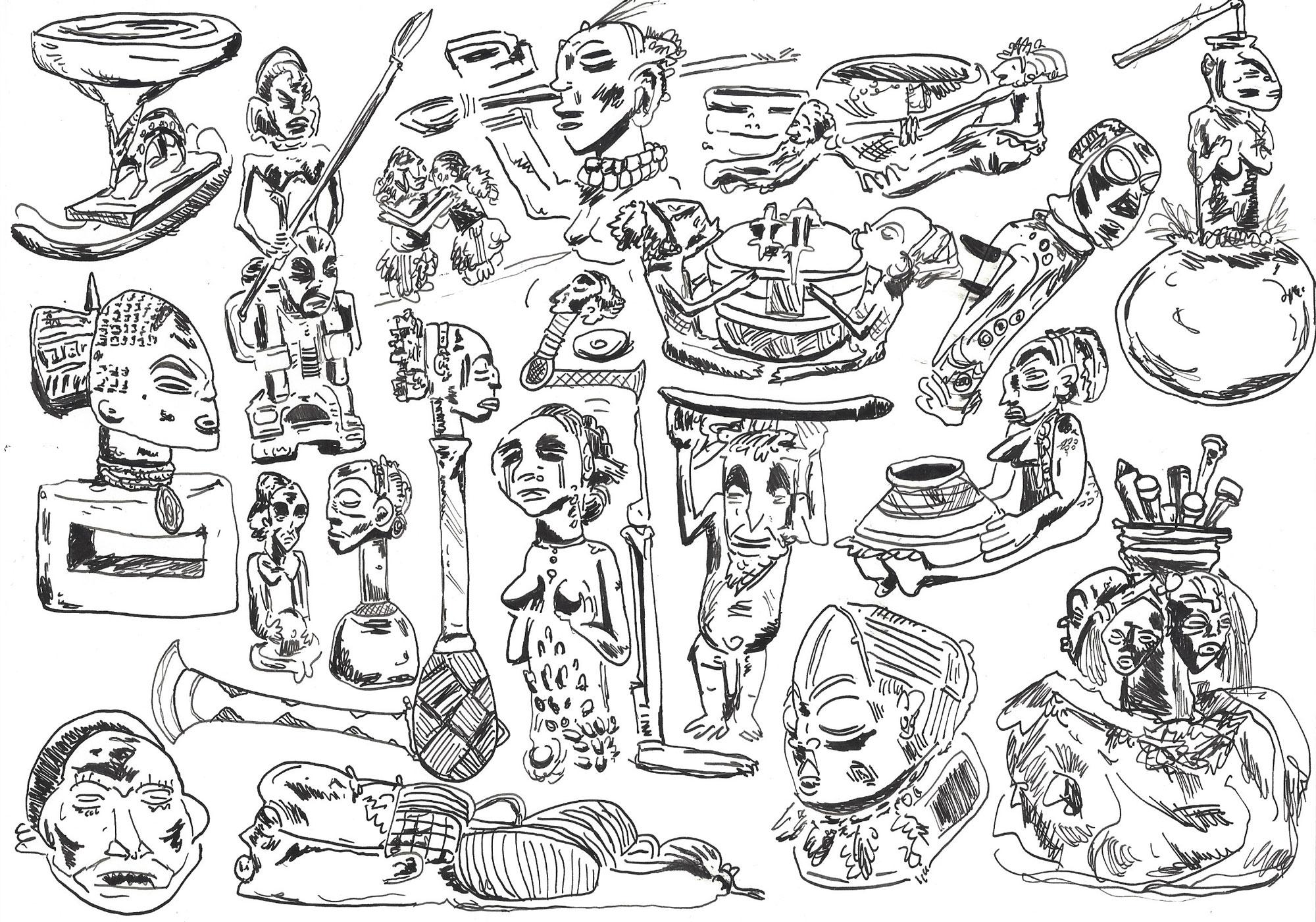 Ethnie et journalisme : pourquoi parle-t-on toujours de l'Afrique en termes ethniques ? Illustrations de Xavier Frederick