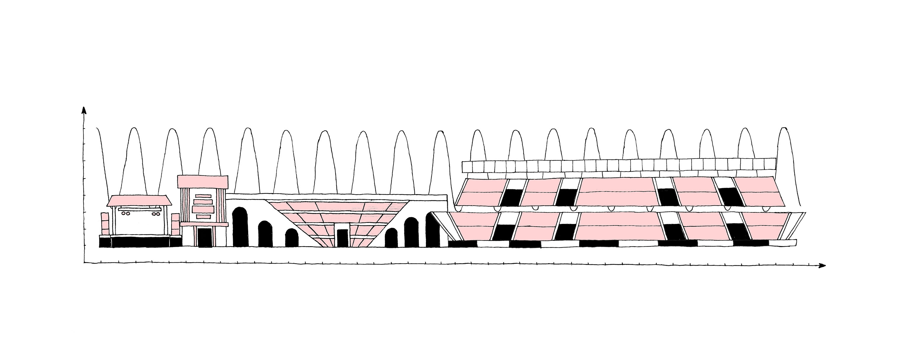 L'histoire des festivals et leur rapport au territoire. Illustrations d'Hadrien Bult.