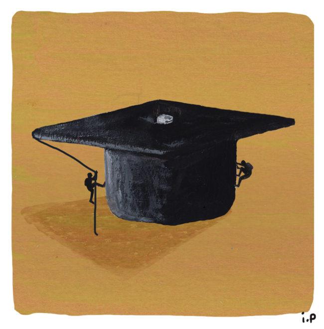 Mai 68, la loi ORE et les inégalités d'accès à l'enseignement supérieur. Illustrations d'Ivan Peev.